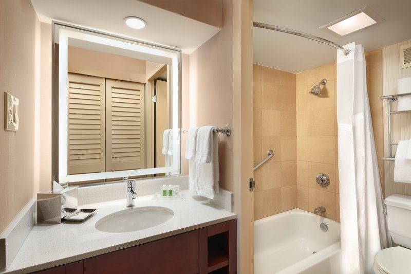 Crowne Plaza Austin - Town Lake-Guest bathrooms feature either a shower/tub combo or shower only.<br/>Image from Leonardo