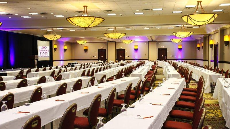 Crowne Plaza Dallas Galleria-Trinity Ballroom - Classroom Style Setup<br/>Image from Leonardo