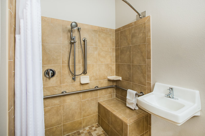 Holiday Inn Express & Suites Bellevue (Omaha Area)-Accessible, barrier free shower with adjustable showerhead<br/>Image from Leonardo