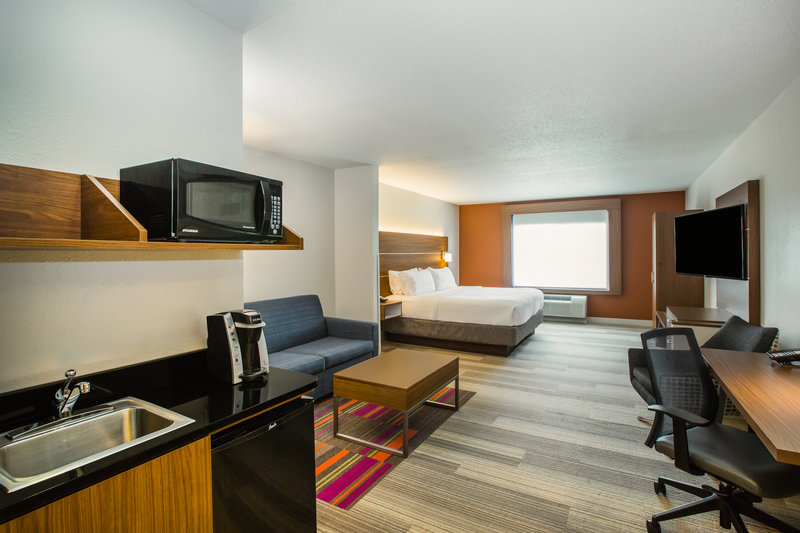 Holiday Inn Express & Suites Bellevue (Omaha Area)-Our King Suite also has a full-sized sofa bed and a kitchenette!<br/>Image from Leonardo