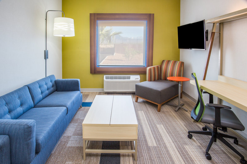 Holiday Inn Express & Suites Pahrump-Each suite has a sofa bed and second television<br/>Image from Leonardo
