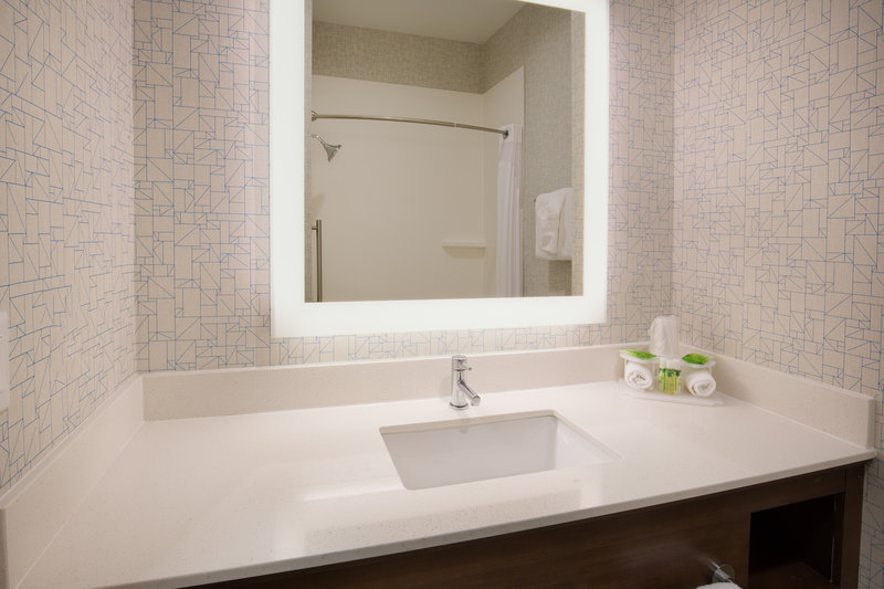 Holiday Inn Express & Suites Pahrump-Well appointed guest bathrooms<br/>Image from Leonardo