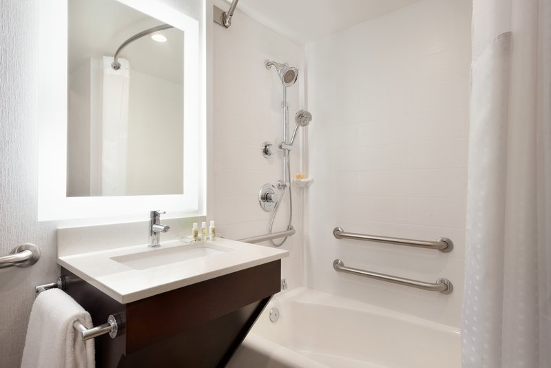 Holiday Inn Rock Island - Quad Cities-Our accessible Guest Bathroom<br/>Image from Leonardo