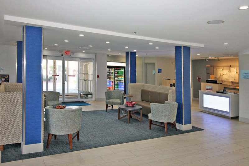 Holiday Inn Express Branford - New Haven-Our Vibrant Lobby Area<br/>Image from Leonardo