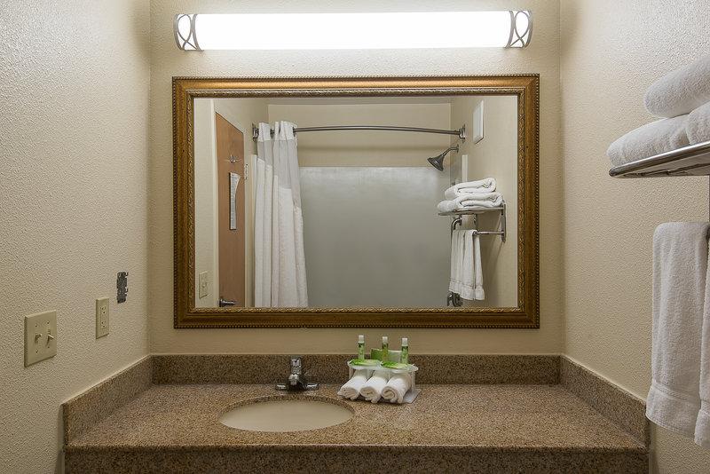 Holiday Inn Express Roanoke-Civic Center-Standard Guest Bathroom Vanity<br/>Image from Leonardo