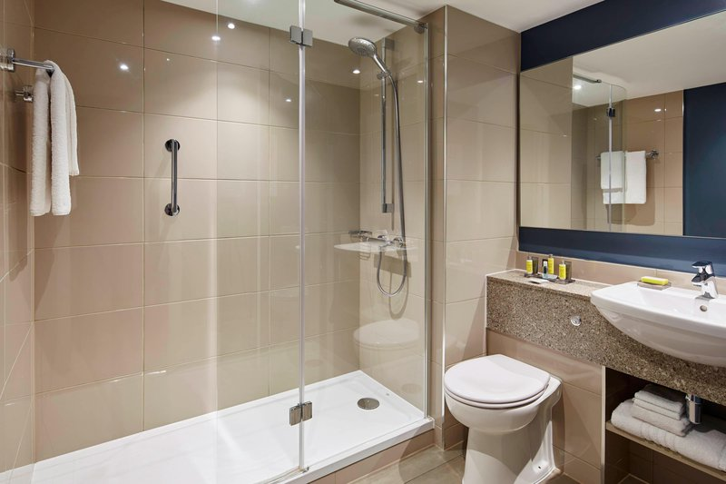 Marriott Portsmouth Hotel-Guest Bathroom - Walk-In Shower<br/>Image from Leonardo