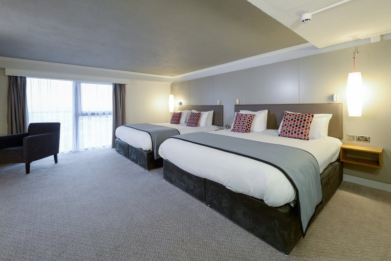 Crowne Plaza Plymouth-Large twin room with two double beds excellent for families<br/>Image from Leonardo