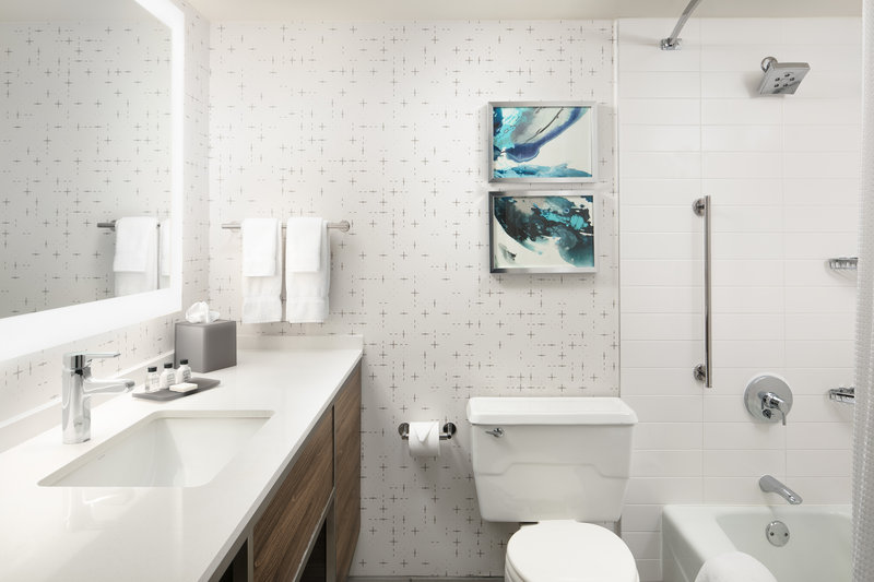 Crowne Plaza Dallas Market Center-Pamper yourself in our contemporary bathrooms.<br/>Image from Leonardo