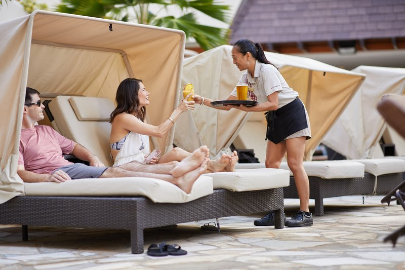 Outrigger Reef Waikiki Beach Resort - Pool Cabanas + Casabellas <br/>Image from Leonardo