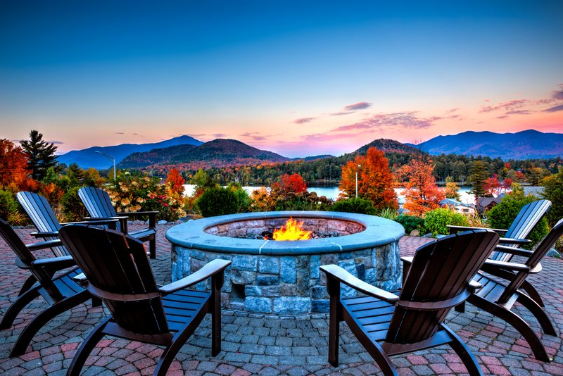 Crowne Plaza Lake Placid-Our newly expanded patio offers stunning views of Mirror Lake<br/>Image from Leonardo