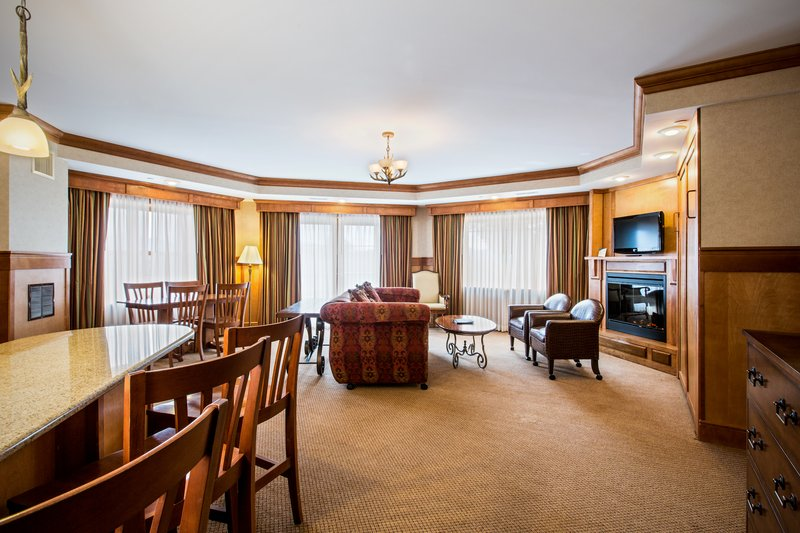 Crowne Plaza Lake Placid-Grand King Suite Living Area (Adirondack Wing)<br/>Image from Leonardo