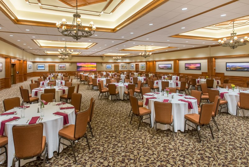Crowne Plaza Lake Placid-Banquet Set-Up in our Olympic Room<br/>Image from Leonardo