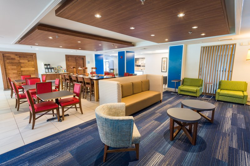 Holiday Inn Express Wilmington-Our hotel's new lobby lounge exhibits radiant style.<br/>Image from Leonardo