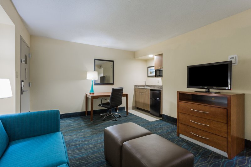 Holiday Inn Express Wilmington-Our Suites have a king bedroom and separate living room area.<br/>Image from Leonardo