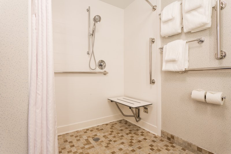 Holiday Inn Express Wilmington-Our ADA accessible bathroom features a roll-in shower & more. <br/>Image from Leonardo