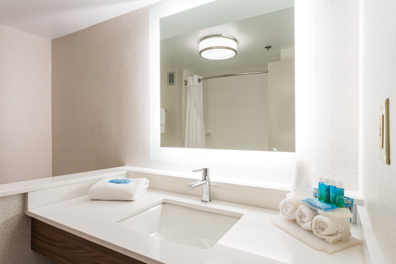 Holiday Inn Express Wilmington-BATHROOMS FEATURE BATH & BODY WORKS SHAMPOO, CONDITIONER & LOTION.<br/>Image from Leonardo