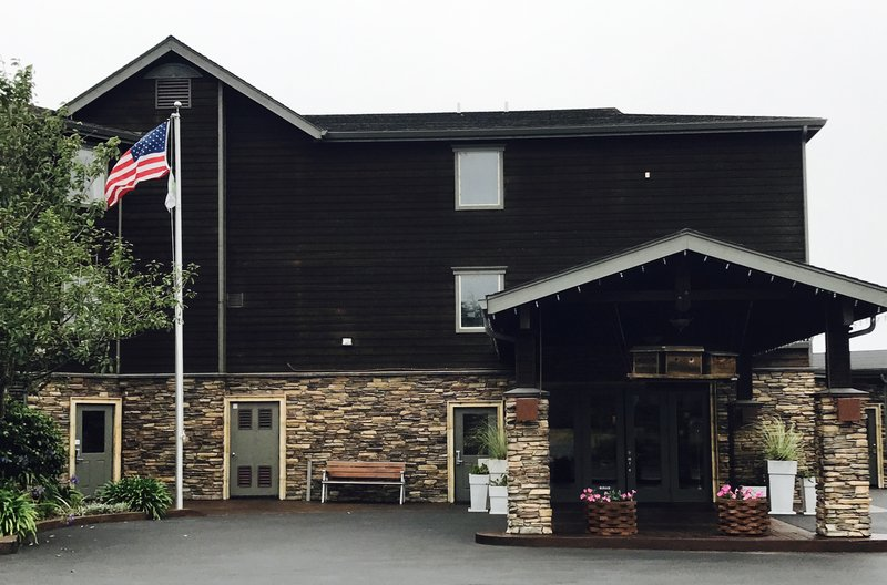 Holiday Inn Express Fort Bragg-Entrance <br/>Image from Leonardo