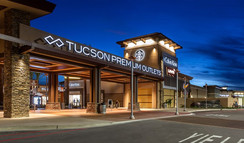 Holiday Inn Express & Suites Marana-Tucson Premium Outlets located across the street from hotel<br/>Image from Leonardo