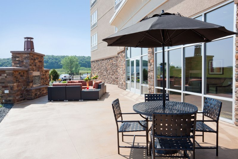 Holiday Inn Eau Claire South I-94-Beautiful Outdoor Fireplace, Perfect Place to Enjoy Lunch Outside!<br/>Image from Leonardo