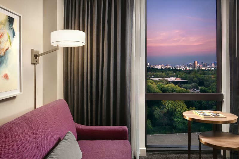 Crowne Plaza Dallas Market Center-Reserve a city view guest room for stunning skyline views.<br/>Image from Leonardo