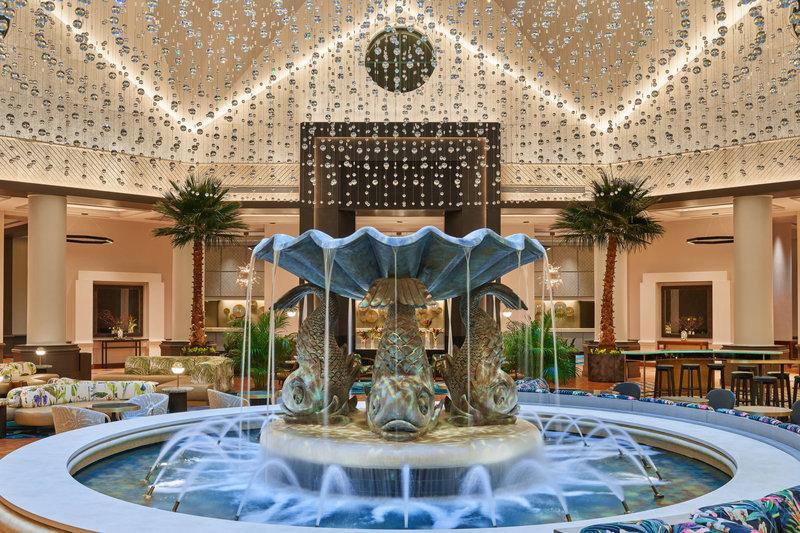 Walt Disney World Dolphin - Lobby Fountain <br/>Image from Leonardo