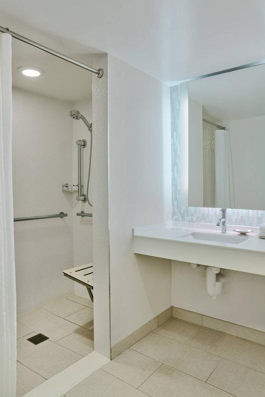 Walt Disney World Dolphin - Accessible Bathroom - Roll-In Shower <br/>Image from Leonardo