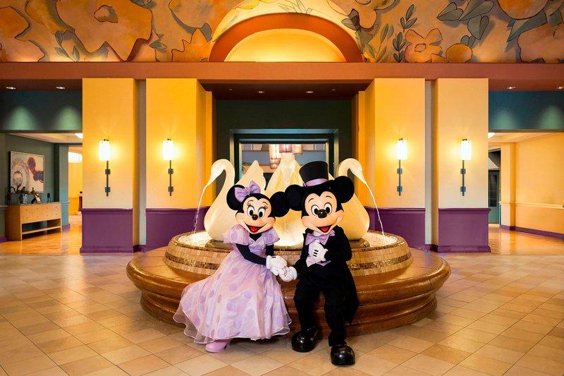 Walt Disney World Dolphin - Mickey and Minnie Wedding - Swan Lobby <br/>Image from Leonardo