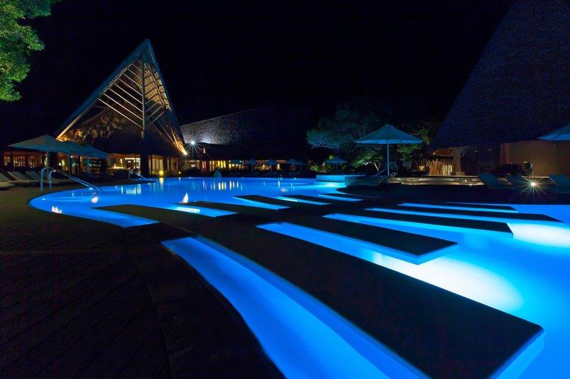 Sheraton New Caledonia Deva Spa And Golf Resort-Swimming Pool by night<br/>Image from Leonardo