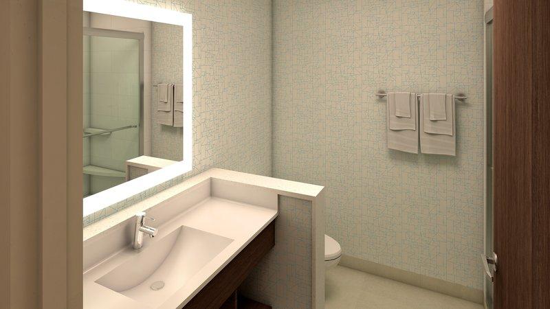 Holiday Inn Express Kingston West-Guest Bathroom<br/>Image from Leonardo