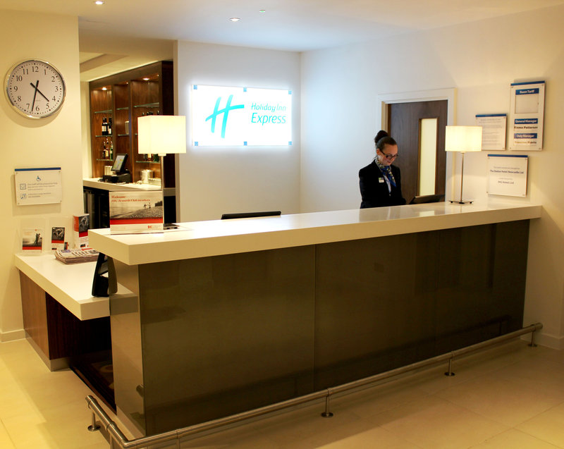 Holiday Inn Express Wakefield-Brightly Lit and inviting reception desk<br/>Image from Leonardo