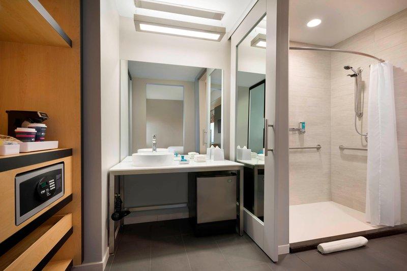 Aloft Columbia Downtown-Accessible Bathroom<br/>Image from Leonardo
