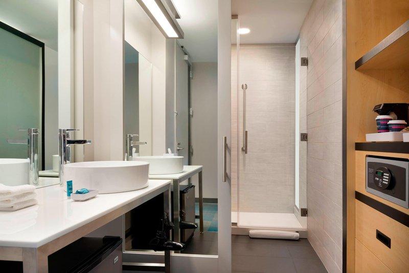 Aloft Columbia Downtown-Guest Bathroom<br/>Image from Leonardo