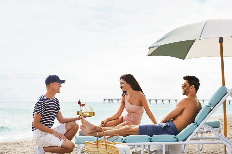Four Seasons Resort Palm Beach-Beach Service<br/>Image from Leonardo