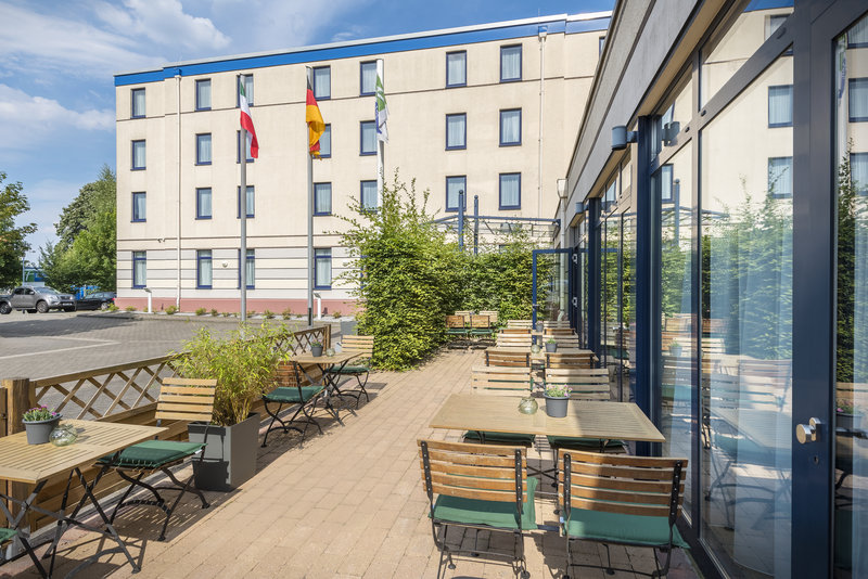 Holiday Inn Express Dortmund-The terrace, ideal for a drink on warm days.<br/>Image from Leonardo