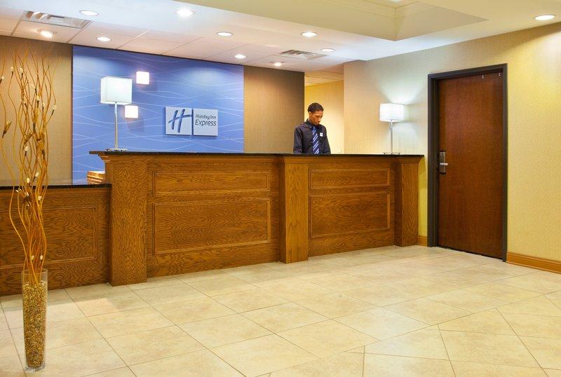Holiday Inn Express Hotel & Suites Chicago South Lansing-Front Desk<br/>Image from Leonardo