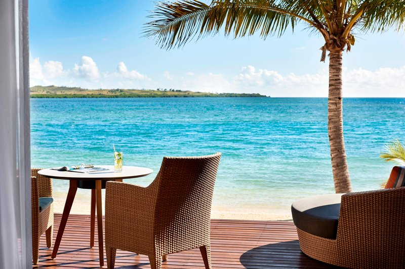 Fiji Marriott Resort Momi Bay-King Duplex Ocean Front Bure Guest Room - Deck<br/>Image from Leonardo