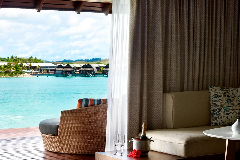 Fiji Marriott Resort Momi Bay-Lagoon Bure Guest Room<br/>Image from Leonardo