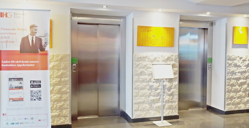 Holiday Inn Salzburg City-Two elevators brings you direct to your room.<br/>Image from Leonardo