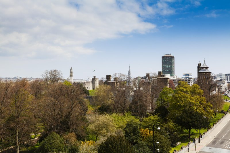 Holiday Inn Cardiff City Centre-View from the hotel of Bute Park and Cardiff Castle<br/>Image from Leonardo