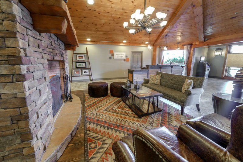 Holiday Inn Club Vacations Gatlinburg-Smoky Mountain Resort-Relax by the fireplace in our lobby lounge<br/>Image from Leonardo