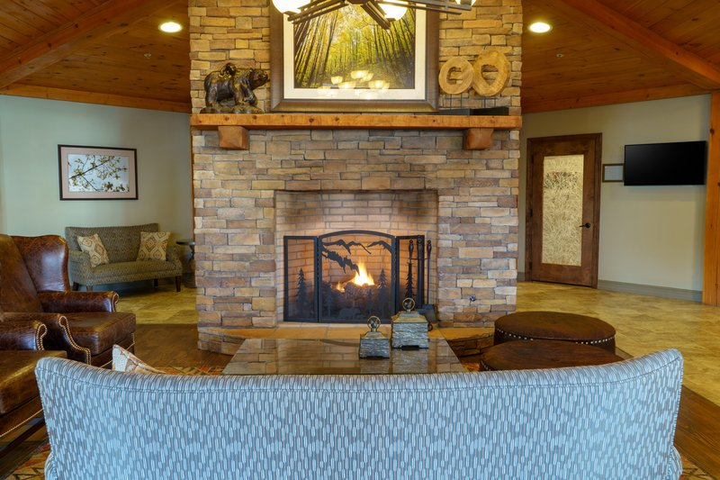 Holiday Inn Club Vacations Gatlinburg-Smoky Mountain Resort-Cozy up by the fireplace in our lobby<br/>Image from Leonardo
