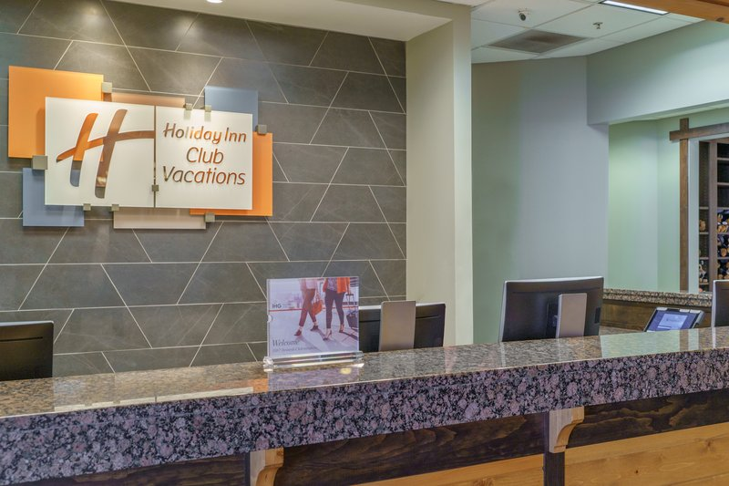 Holiday Inn Club Vacations Gatlinburg-Smoky Mountain Resort-Start your vacation and check-in at the front desk<br/>Image from Leonardo