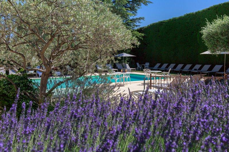 Auberge de Cassagne-Swimming pool view<br/>Image from Leonardo