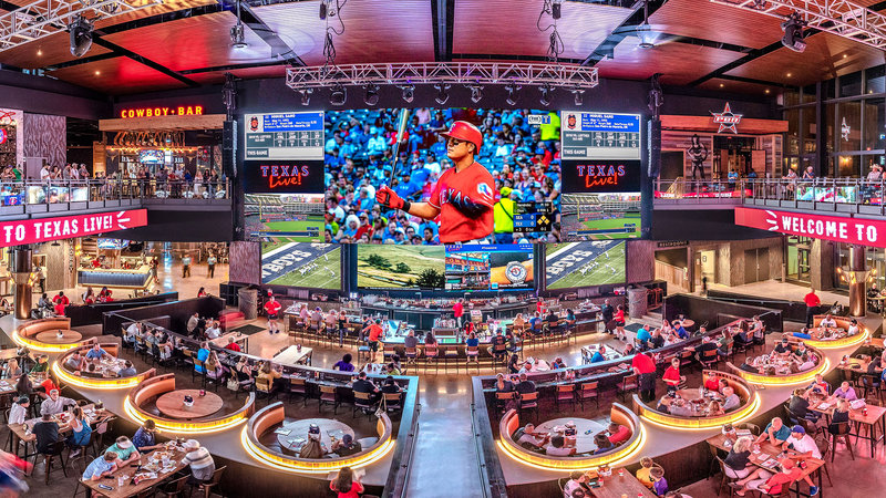 Crowne Plaza Suites Arlington - Ballpark - Stadium-Checkout one of the largest LED screens out there at Texas Live! <br/>Image from Leonardo