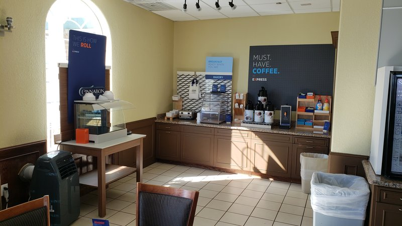 Holiday Inn Express and Suites Galveston Beach-Start your morning with Fresh Coffee & a Cinnabon roll<br/>Image from Leonardo