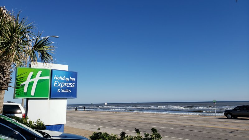 Holiday Inn Express and Suites Galveston Beach-Enjoy the ocean view from the front of the Holiday Inn Express.<br/>Image from Leonardo