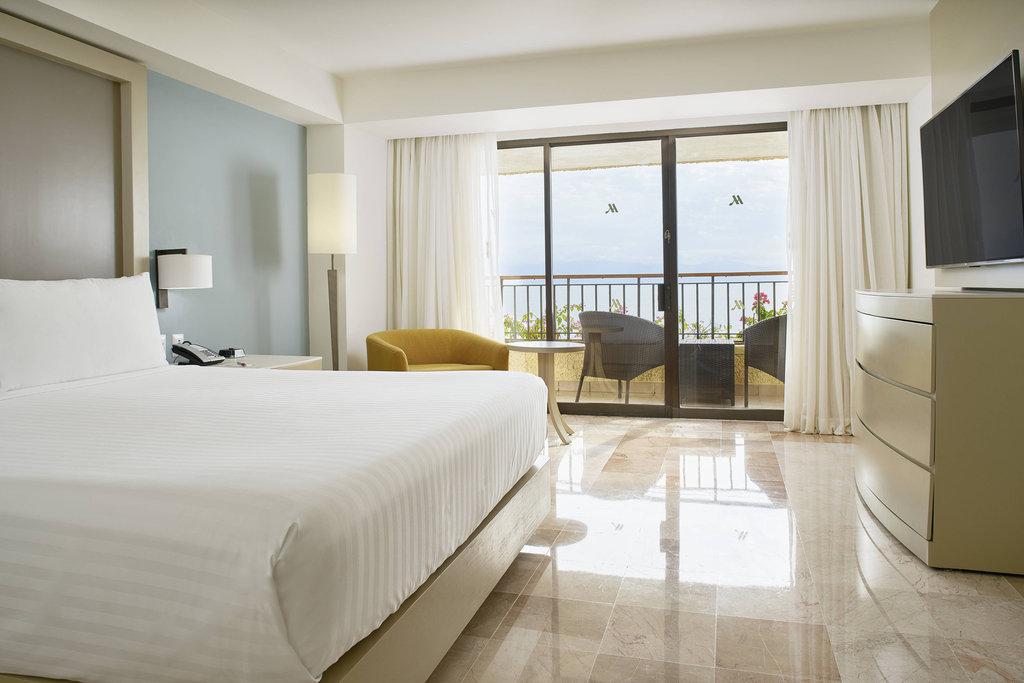 Marriott Puerto Vallarta Resort & Spa - Governor Suite - Bedroom. <br/>Image from Leonardo
