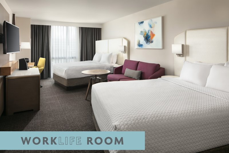 Crowne Plaza Dallas Market Center-Our WorkLife Rooms provide restorative sleep and additional space.<br/>Image from Leonardo