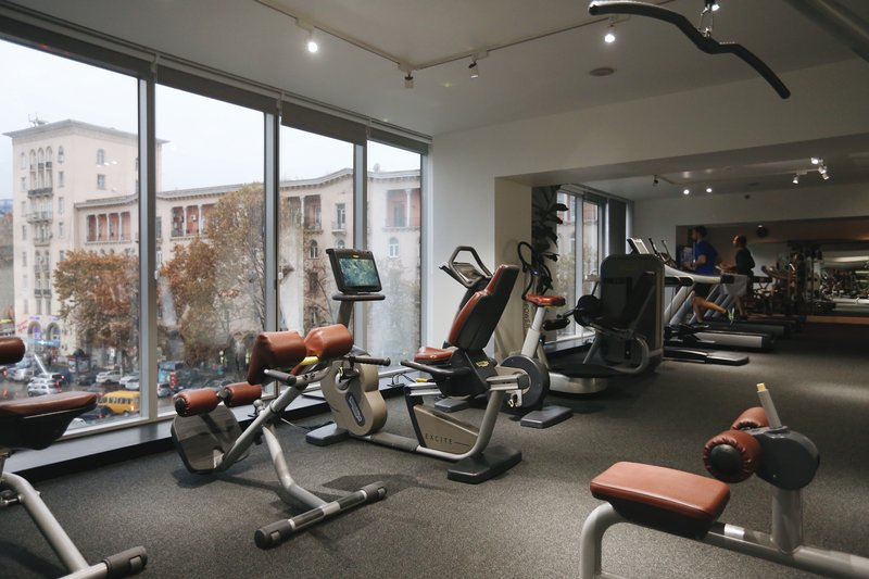 Holiday Inn Tbilisi-Fitness Center equipped with TechnoGym Machines.<br/>Image from Leonardo