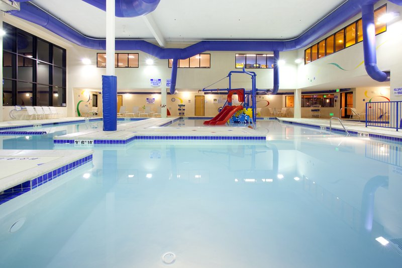 Holiday Inn Express & Suites Salt Lake City West Valley-Grins & Fins Water Park includes 3 heated indoor pools<br/>Image from Leonardo